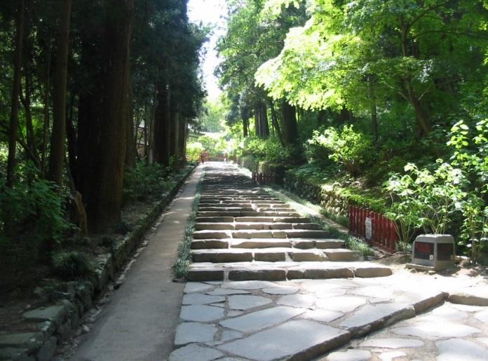 写真:施工箇所(神社階段)