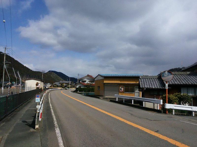 国道156号 美並町上田